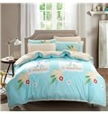 Lovely Cartoon Giraffe Print 4-Piece Duvet Cover Sets