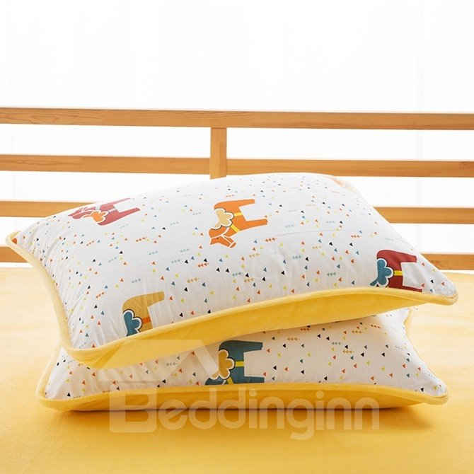 Lovely Colorful Horse Print 4-Piece Duvet Cover Sets