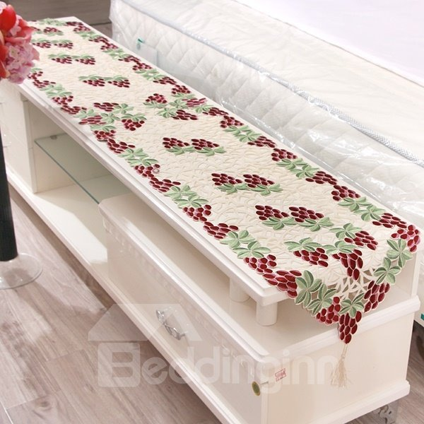 Dining Room Table Runner: Amazing Rectangle Polyester Grape Pattern Dining Room