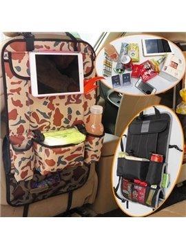 High Capacity And Foldable Multi-Pocket Multifunction Backseat Organizer