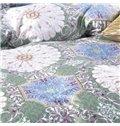 Popular Medallion Print 4-Piece Cotton Duvet Cover Sets