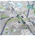 Retro Damask Print Green Long-staple Cotton 4-Piece Duvet Cover Sets