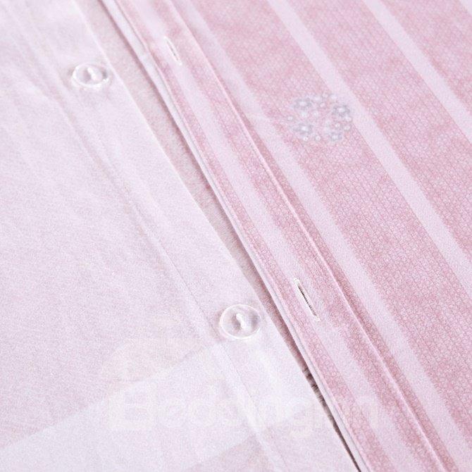 Faddish Plaid Print 4-Piece Cotton Duvet Cover Sets