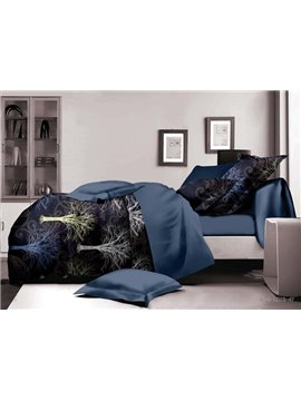 Stunning Tree Print Polyester 4-Piece Duvet Cover Sets