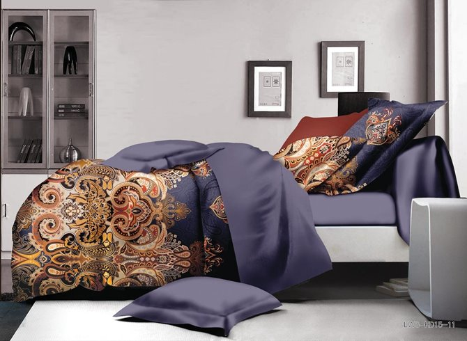 Royal Retro Paisley Print Polyester 4-Piece Duvet Cover Sets