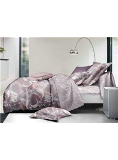 Retro Style Jacobean Pattern Print Polyester 4-Piece Duvet Cover Sets