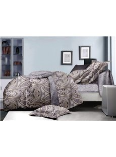 Chic Paisley Design Polyester 4-Piece Duvet Cover Sets