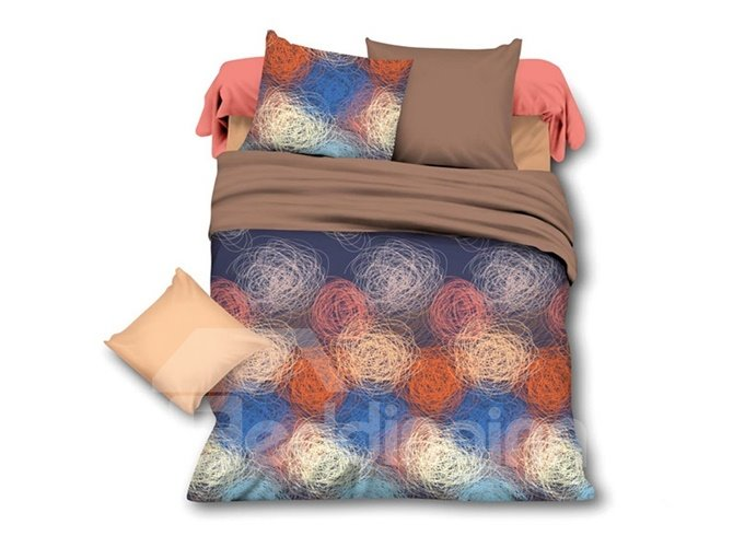 Chic Ethnic Pattern Polyester 4-Piece Duvet Cover Sets