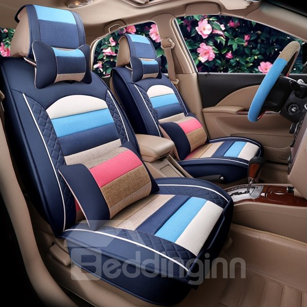 Colorful Lovely Style Design Easy Permeability Durable Universal Car Seat Cover