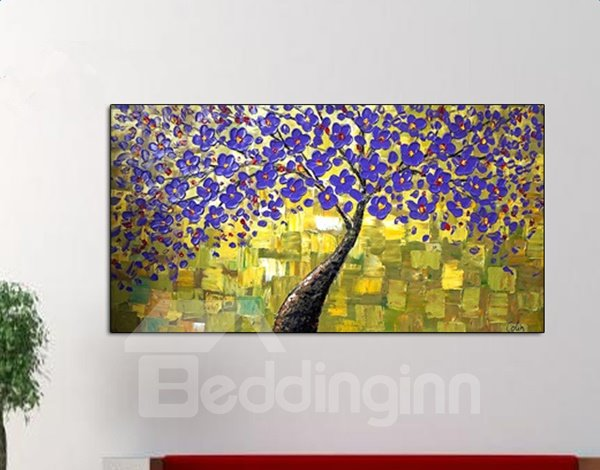 Gorgeous Handmade Rectangle Tree Pattern Canvas Decorative Oil Painting