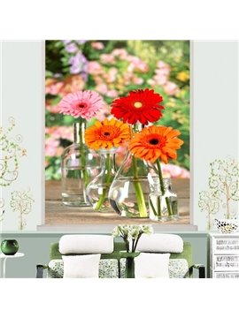 Lovely Colorful Daisy Printing 3D Roller Shades