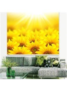 Gorgeous Golden Sunflower Field Printing 3D Roller Shades
