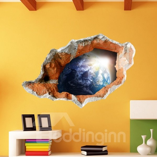 Neoteric Design Earth Surface Pattern Decorative 3D Wall Stickers