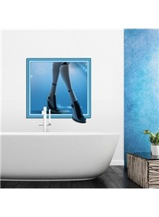 Simple Style Rectangle Robot Legs Pattern 3D Wall Stickers