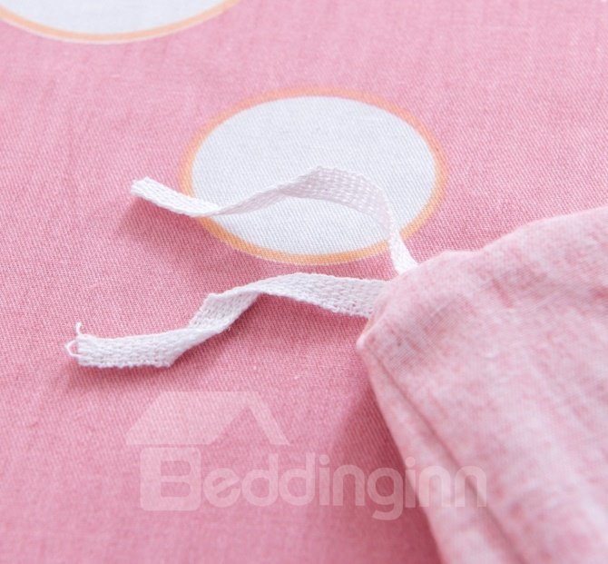 Running Fawn Pattern Pink Kids Cotton 4-Piece Duvet Cover Sets