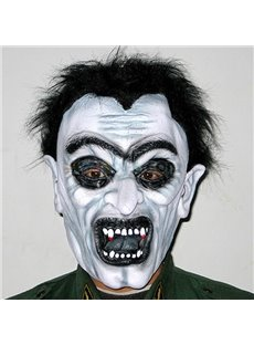 Fearful Black Hair Zombie Design Halloween Mask