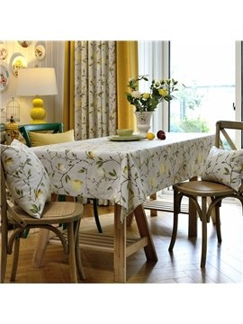 Beautiful Fabric Rectangle Topaz Orchid Pattern Home Decoration Tablecloth