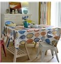Creative Design Fabric Washable Round Circle Pattern Tablecloth