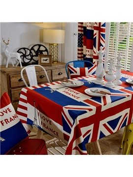 British Style Fabric Union Jack Pattern Washable Tablecloth