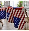British Style Fabric Union Jack Pattern Washable Tablecloth