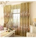 Country Style Peony Printing Grommet Top Curtain
