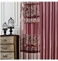 Modern Elegant Purple Stripes Printing Custom Sheer Curtain