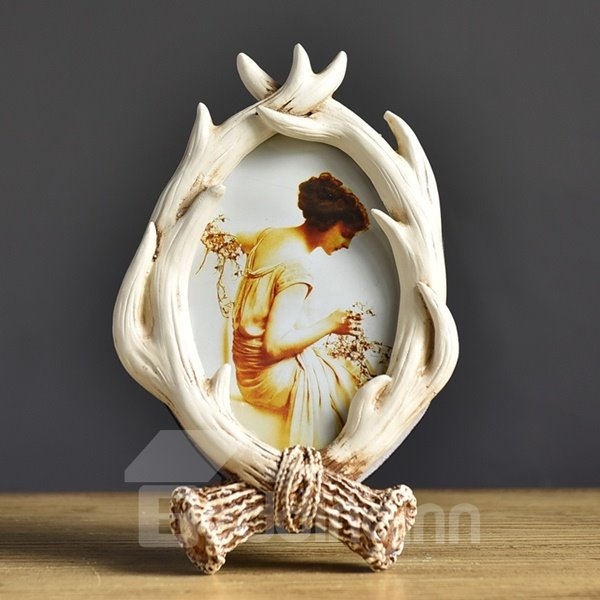 European Style Creative Resin Antler Pattern Home Decorative Desktop Photo Frame