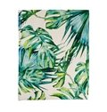 Creative Green Palm Leaves Printed Flat-Shaped Roman Shades