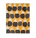 Lovely Pineapple Printing Orange Flat-Shaped Roman Shades