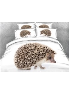 Likable Hedgehog Print 4-Piece Duvet Cover Sets