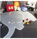Cute Elephant Shape Home Decoration Baby Rug