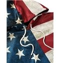 Long Sleeve American Flag Pattern 3D Painted Hoodie