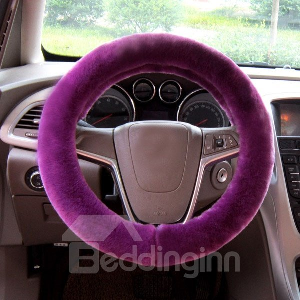 Fashion Hot Solid Popular Winter Warm Comfortable Car Steering Wheel Cover