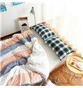 Western Style Stripe Print 4-Piece Cotton Duvet Cover Sets