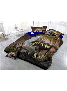 Unique Imperial Print Dinosaur Print Satin Drill 4-Piece Duvet Cover Sets