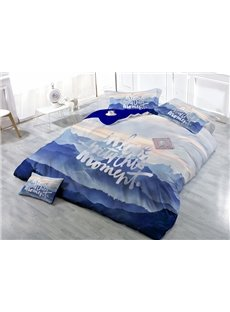 In Love with This Moment Digital Printing 4-Piece Duvet Cover Sets