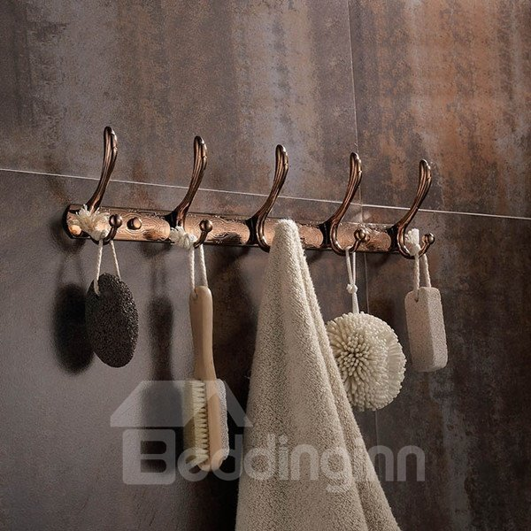 Classic Alloy Flower Pattern Kitchen or Wardrobe Decoration Wall Hooks