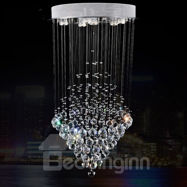 Comtemporary Shining Crystal Design 6 lights Energy Saving Decorative Flush Mount