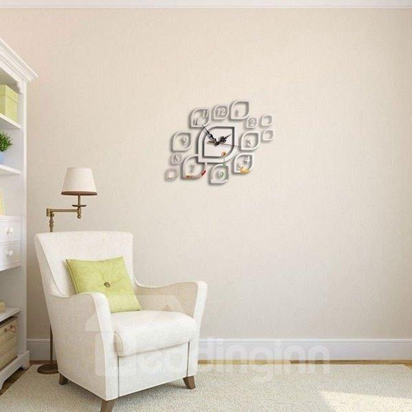 Creative Design Acrylic DIY Room Silent Battery Decorative Wall Clock