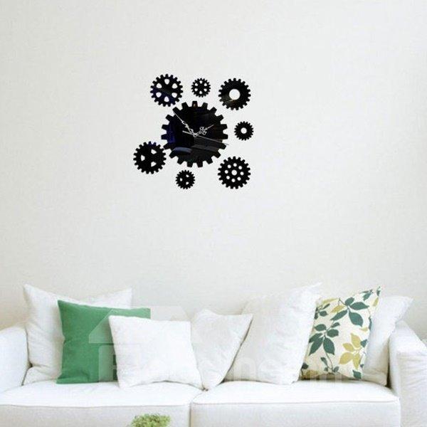 Distinctive Acrylic Gear Pattern Home Decorative Room Silent Wall Clock
