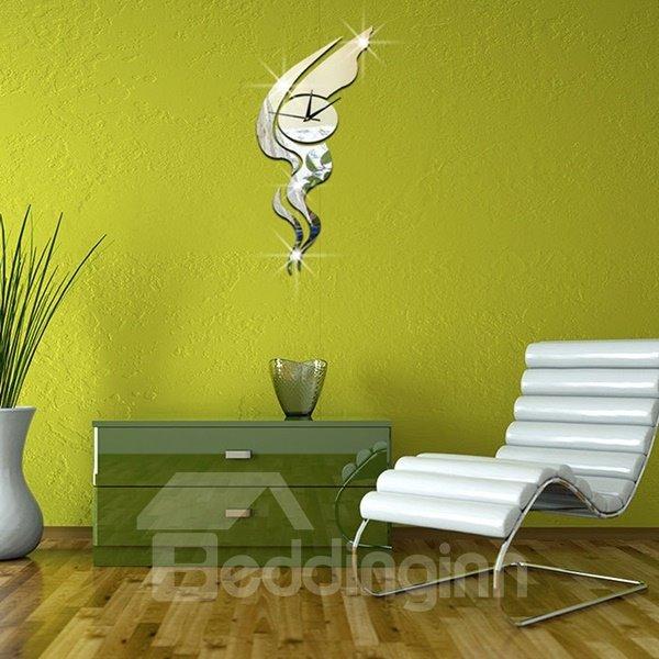 Decorative Acrylic Mirror Creative Pattern Wall Clock