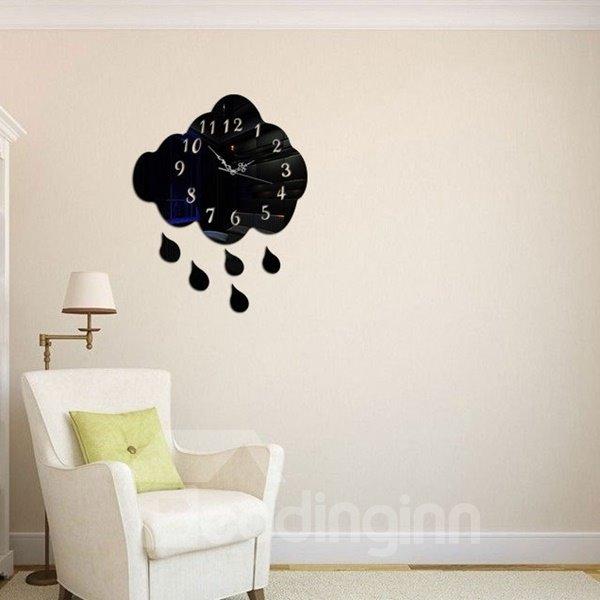 Universal and Creative Acrylic 3D DIY Cloud Design Battery Room Silent Wall Clock