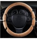 Colored Ribbon Decoration Solid Design Plush Universal Car Steering Wheel Cover