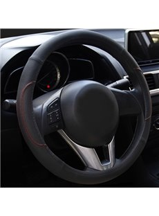 Durable And Solid Texture Leather Material Car Steering Wheel Cover