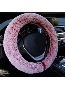 Super Comfortable And Warm Plush Material Popular Car Steering Wheel Cover