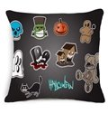Lovely Halloween Design Cotton Throw Pillow Case