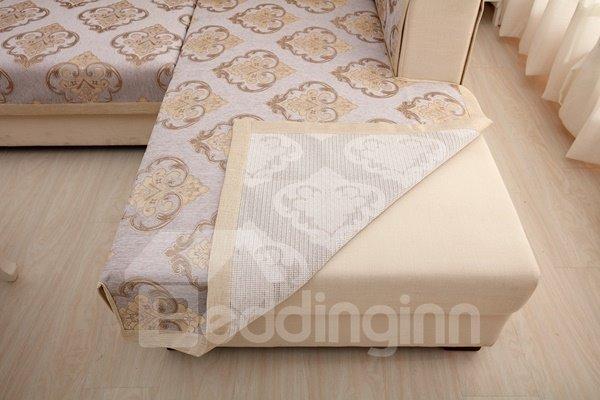 European Style Grey Simple Chenille Flower Print Four Seasons Home Decorative Sofa Covers