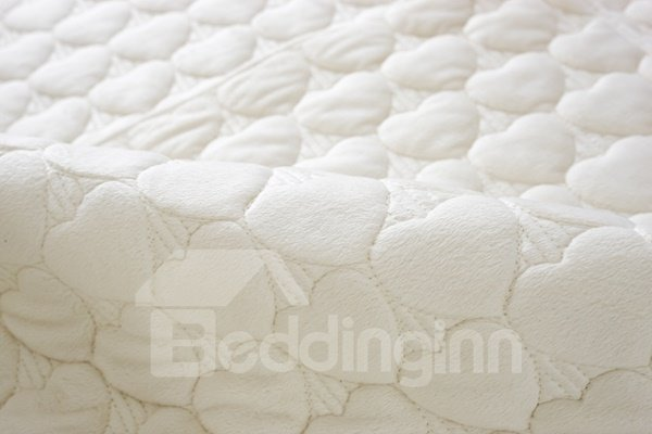 White Double-sided Quilting Heart Shaped Cushion Slip Resistant Sofa Covers