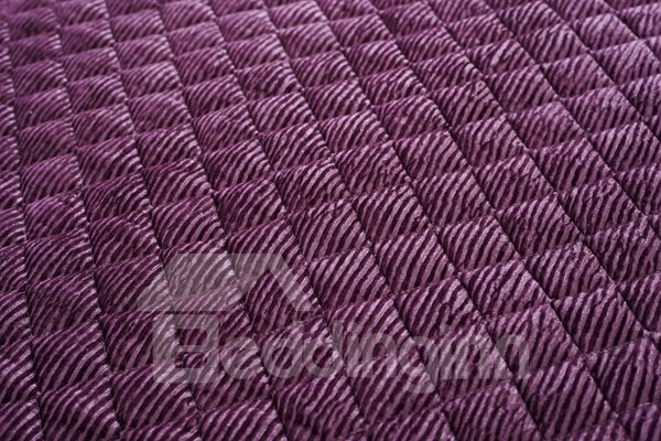 Purple Plush Thicken Heating Slip Resistant Quilting Cushion Sofa Covers