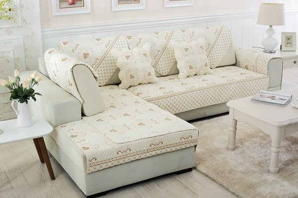 European Style Classical Four Seasons Quilting Cushion Slip Resistant Sofa Covers